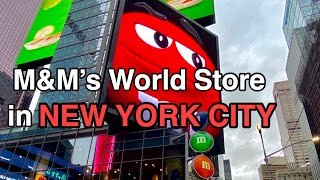 M&M's WORLD STORE TOUR NEW YORK TIME SQUARE 2020