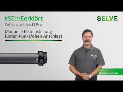 SELVE erklärt: Ersteinstellung des Rollladenmotors SE Pro im man. Einstellmodus (Punkt/Anschlag)