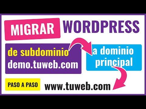 Como pasar de SUBDOMINIO a dominio principal una WEB de WORDPRESS paso a paso 2021