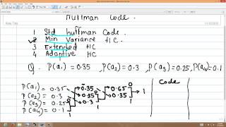 how to find minimum variance huffman coding