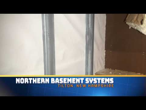 Basement Waterproofing & Foundation Wall Support in Tilton, New Hampshire.
