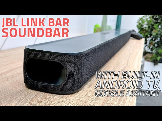 JBL Link Bar Soundbar With Google Assistant, Android TV
