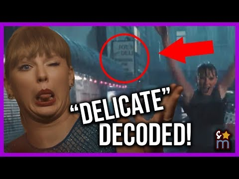 """Taylor Swift """"Delicate"""" Music Video DECODED! Meaning, Easter Eggs, Hidden Messages"""