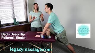 Deep Hip, Piriformis Stretch - On Bed