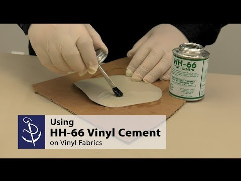 Using HH-66 Vinyl Cement on Vinyl Fabric