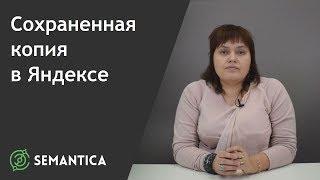 Сохраненная копия в Яндексе: что это такое и зачем она нужна | SEMANTICA