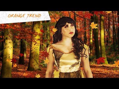 Orange Trend Make-Up Tutorial für Halloween