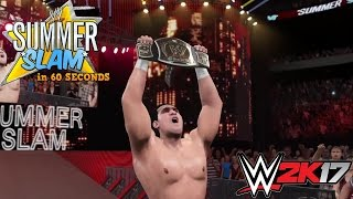 WWE 2K15/17 - SummerSlam 2011 in 60 seconds!