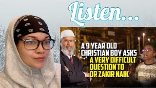 Dr. Zakir Naik || A 9 Year Old Boy Ask A Very Difficult Question || REACTION