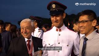 Singapore's first Chief of Defence Force witnesses his grandson's commissioning parade