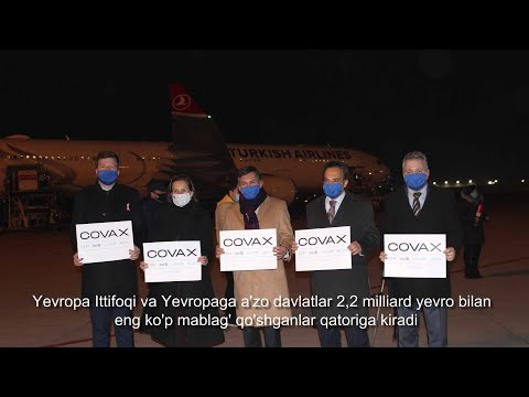 Team Europe welcomes the arrival of first vaccines in Uzbekistan delivered through COVAX