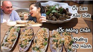 Vlog 215  Ốc Len Xào Dừa.Ốc Móng Chân Nướng Mỡ Hành Bắt Được Siêu Ngon