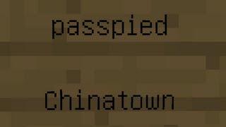 Minecraft音ブロックで「パスピエ-チャイナタウン」