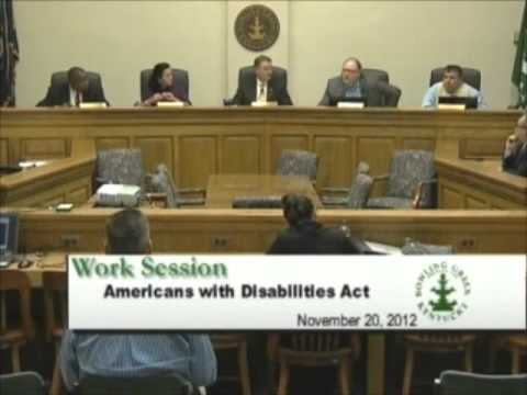 11/20/12 Board of Commissioner's Work Session