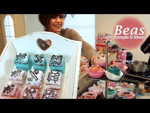 Petit Fours Rezept - Kleine Kuchen backen Mini Törtchen verzieren - Backsendung