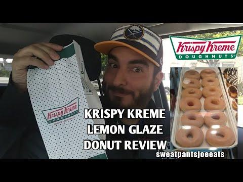 KRISPY KREME LEMON GLAZE DONUT REVIEW (LIMITED TIME ONLY) (SWEATPANTS JOE EATS) (2018)