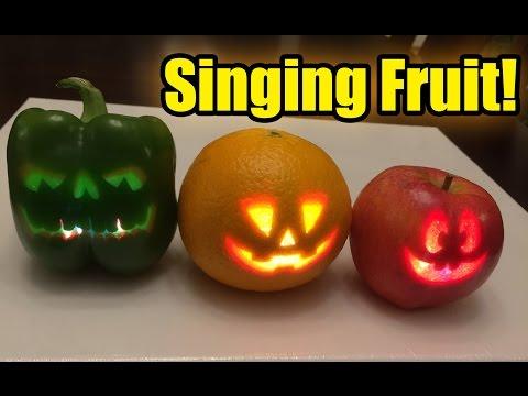 , title : 'Singing pumpkins? No, singing Halloween fruit!