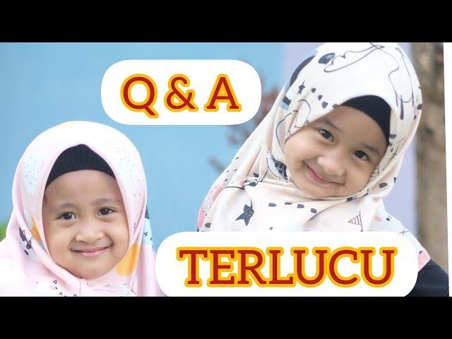 Q & A AISHWA & QEISYA   jawaban adek qeisya bikin ngakakk!!