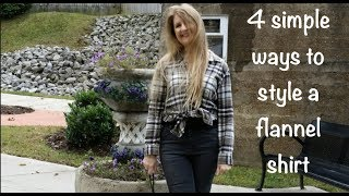 4 Simple Ways To Style A Flannel Shirt🍁