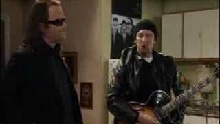 Bono visits The Edge