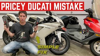 FIXING A Very EXPENSIVE Ducati Mistake *And A Problem We Can't Fix*