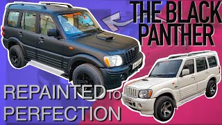 How to change Color of your Car? Old Scorpio repainted in Matte Black | CarzSpa Pune