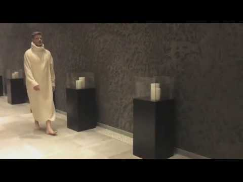 Designer Luxus Bademantel Saunamantel Kapuze extra lang VONNESLHO Damen & Herren