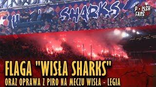 """Flaga """"WISŁA SHARKS"""" Oraz Oprawa Z Piro Na Meczu Wisła - Legia (31.03.2019 R.)"""