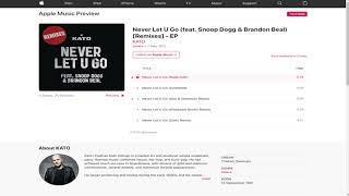 Kato - Never Let U Go (feat. Snoop Dogg & Brandon Beal)