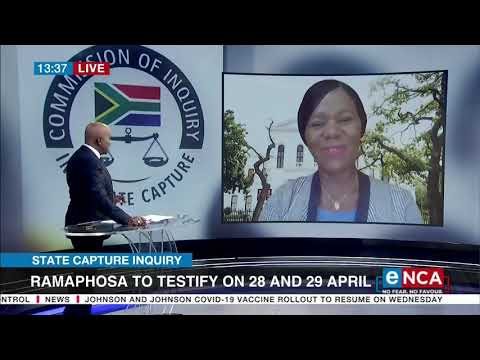 Discussion Adv Thuli Madonsela speaks on Ramaphosa to testify on 28 and 19 April