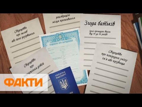 Как изменение имя и фамилию в Украине
