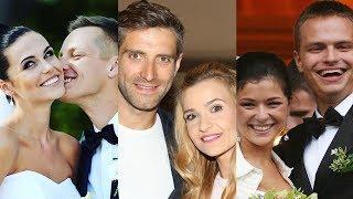 M jak miłość ... and their real life partners