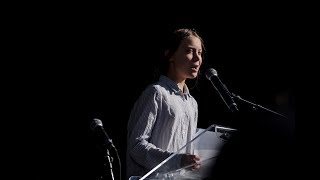 Greta Thunberg delivers speech at Montreal climate change rally