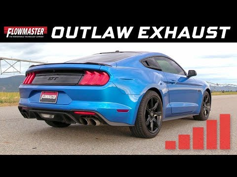 2018-19 Ford Mustang GT 5.0 Active Exhaust - Outlaw Axle-back Exhaust System 817824 & 817825