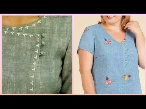 beautiful neck style and neckline shirts and trousers