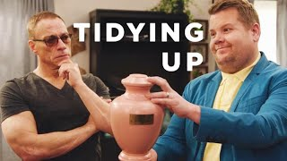Tidying Up w/ Jean-Claude Van Damme & James Corden