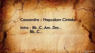 Cassandra - Hapuskan Cintaku | Video Lyric & Chord Gitar