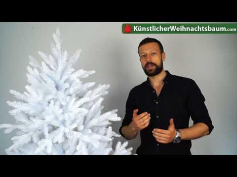 Weiße DeLuxe Nordmanntanne von Dekoland im Test - Künstlicher Weihnachtsbaum weiß