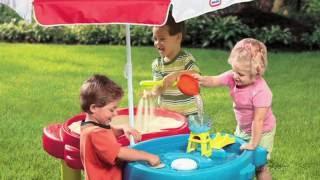 Vaikiškas daugiafunkcis veiklos stalas su skėčiu | 2in1 | Little Tikes 401L