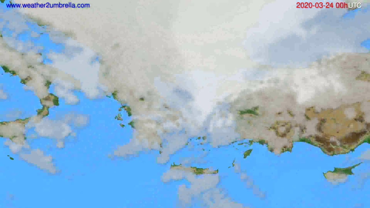 Cloud forecast Greece // modelrun: 00h UTC 2020-03-23