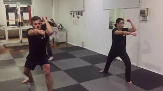 Students training using Iron Rings