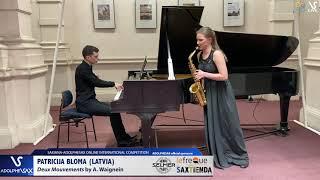 Patricija BLOMA plays Concerto Capriccio by A. Wagnein #adolphesax