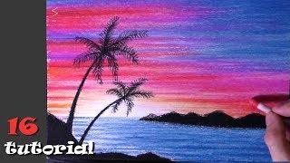 Как нарисовать пейзаж пастелью? Простой рисунок для начинающих.