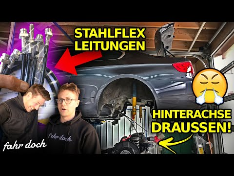 SO WAR DAS NICHT GEPLANT! BMW E92 335d Stahlflexleitungen EINBAU | Fahr doch