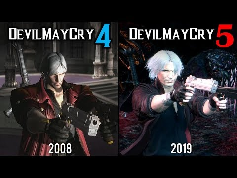 Devil May Cry 5 vs Devil May Cry 4 | Direct Comparison