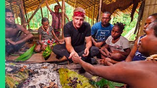 Eating with the Tree People of Papua, Indonesia!! (Raw Clip with the Korowai Tribe)