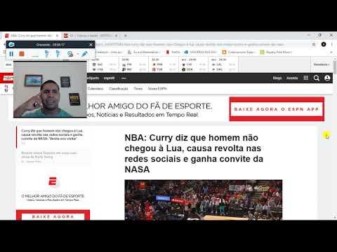 ESTRELA DA NBA (CURRY) QUESTIONA IDA À LUA E NASA ENTRA EM DESESPERO!