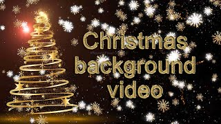 Christmas background - golden snow fakes video | Merry Christmas background video loops | #Christmas