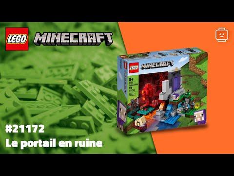 Vidéo LEGO Minecraft 21172 : Le portail en ruine