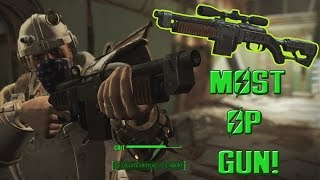 FALLOUT 4: How To Create The Most OP Semi Auto Gun!